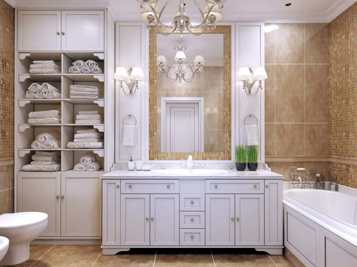 Custom Bathroom Cabinets Mark Hevier Enterprises Top